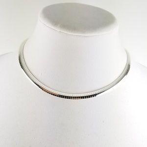 "Sterling Silver 16"" Omega Necklace"